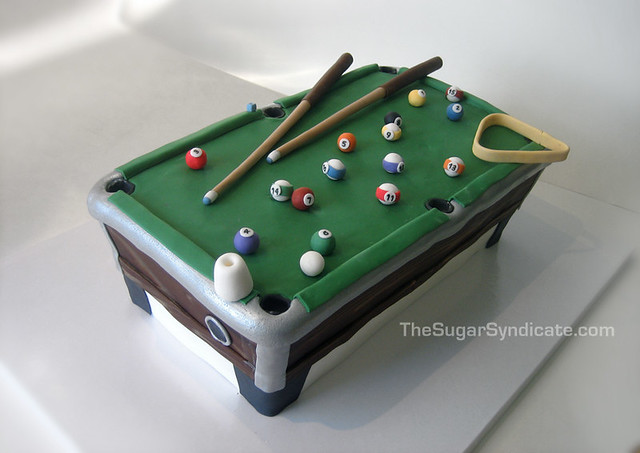 Happy Birthday Billiards Cake