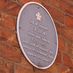 Photo of C. P. Snow blue plaque