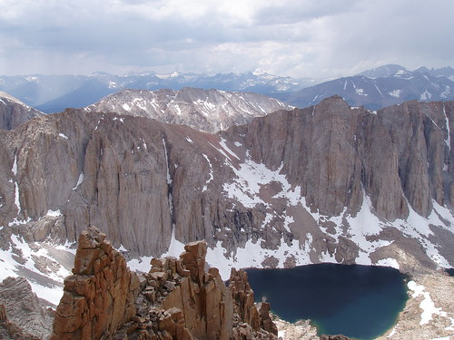Looking west from the Mount Whitney trail.