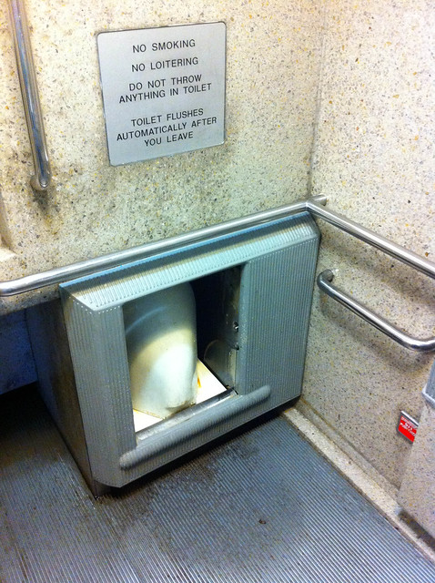 self cleaning public toilet