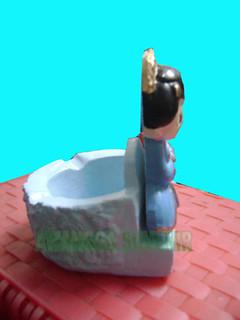 souvenir gypsum asbak pengantin jawa samping