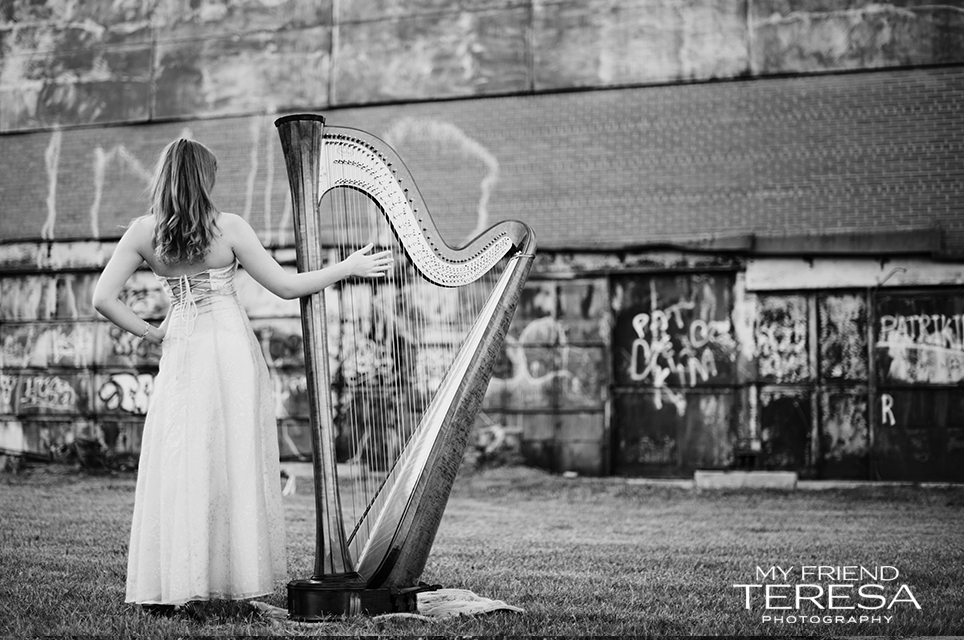 cary academy senior, my friend teresa photography, harp senior portrait