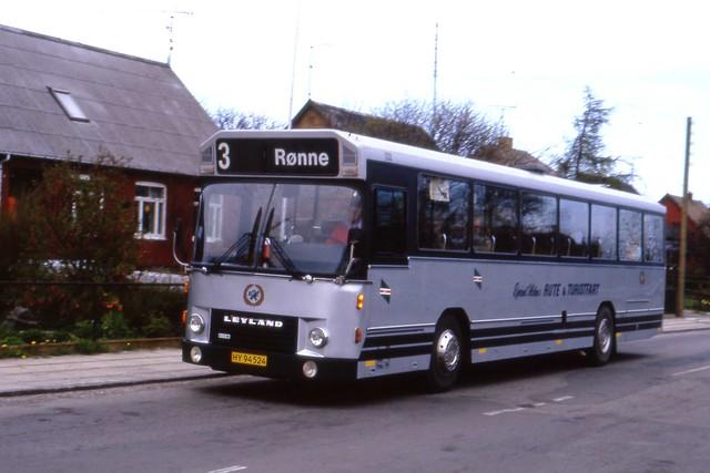 Danish Leyland - DAB HY 94524 , Ejvind Holm, Gudhjem, Bornholm 1987