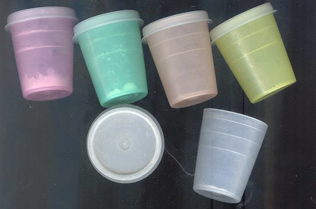 Tupperware 3 inch containers-early 70's