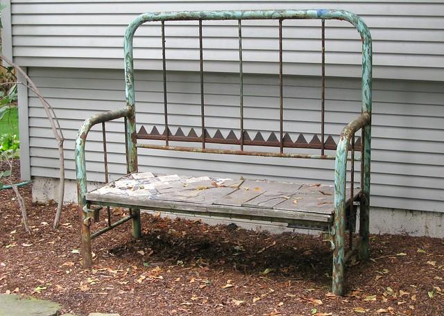 Garden Bench Headboard And Footboard Flickr Photo Sharing