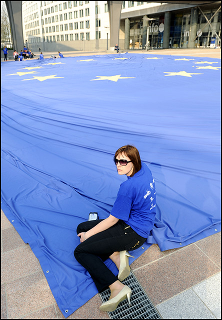 EU flag in the Guinness Book of Records 14.04.2009