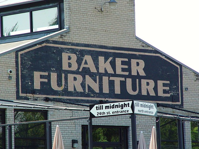 Baker Furniture Brick Painted Sign On Building   Holland, Michigan   6/12/
