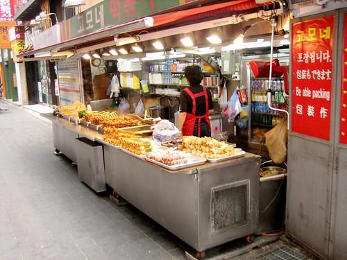Typical sidewalk food cart