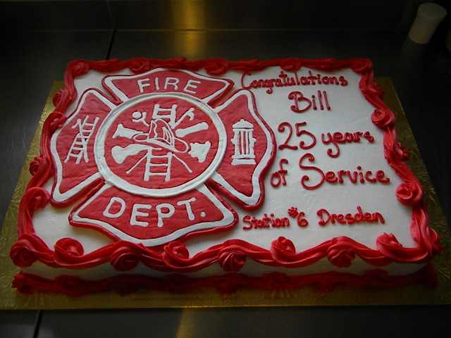 Firefighter Retirement Cake Ideas