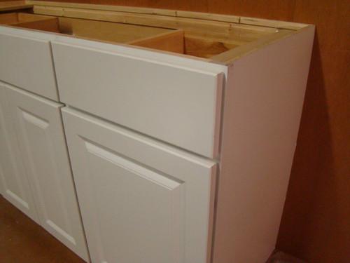 Kraftmaid white bathroom vanity sink base cabinet 60 w ebay for Kraftmaid closet systems