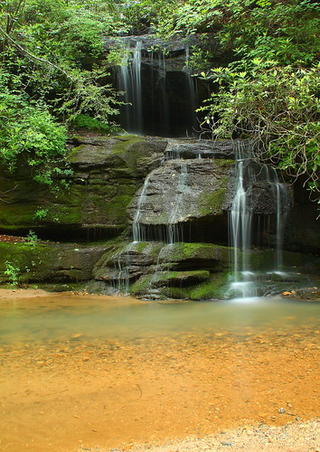 longexposure pool waterfall nc moss rocks northcarolina cascade naturephotography polkcounty bigbradleyfalls davidhopkinsphotography ncpedia