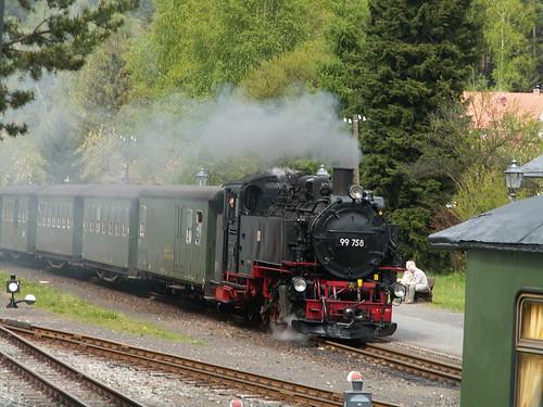 Bimmelbahn mit Dampflokomotiven im Zittauer Gebirge