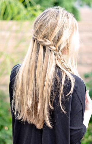 Partial French Braid Cascade  Hair Tutorial