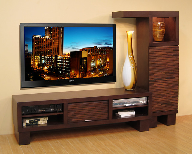modern low profile entertainment media center l wall