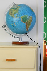 decor, globe, illustration,