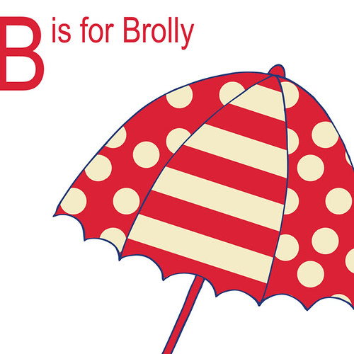 B for Brolly Red