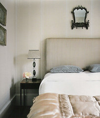 Luxe neutral bedroom: White, gray, and taupe