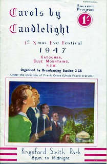 Carols by Candlelight 1947, souvenir program