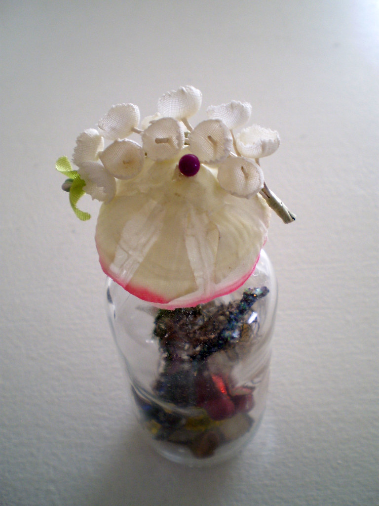 Asian Style Flower Hat Earth Gently Kissed by Air Enchanted Elemental Bottle