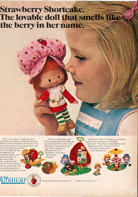 1980 Kenner Strawberry Shortcakes Magazine Ad