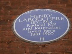 Photo of Henry Labouchere blue plaque