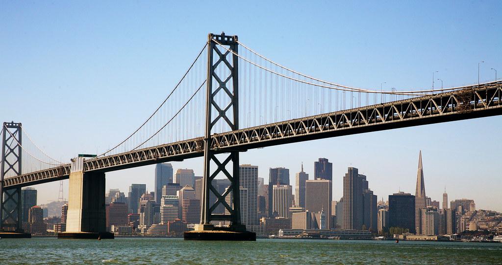旧金山海湾大桥 千锤百炼成地标 - 路人@行者