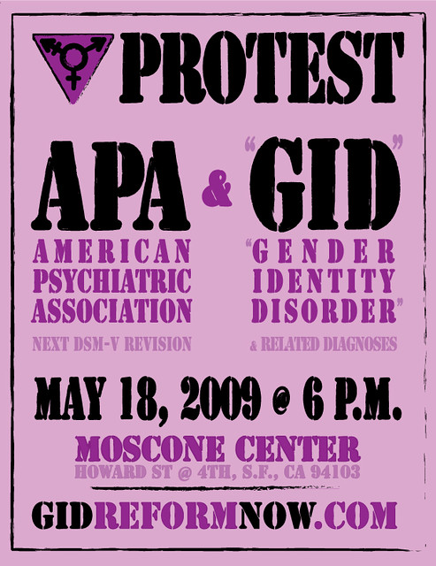 "APA ""gender identity disorder"" protest poster"