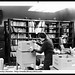 Suzy Chesser packing in Cataloging Department of Ohio University's Chubb Library, 1969
