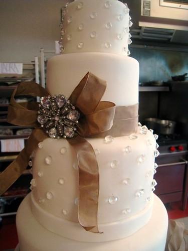 Edible Bling Wedding cake