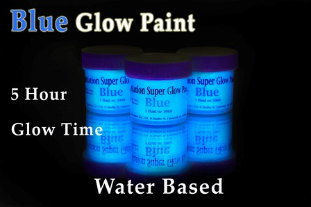 blue glow in the dark paint. Black Bedroom Furniture Sets. Home Design Ideas
