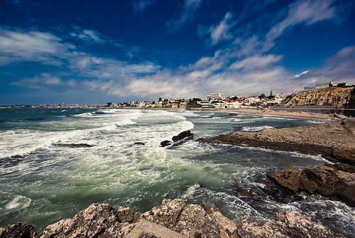 blue sea mer green praia beach portugal mar rocks waves pentax vert bleu ppg vagues plage olas estoril sigma1020mm k10d pentaxphotogallery arnaudb pentaxgallery arnodil