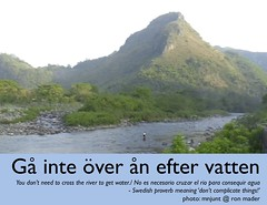 you don't need to cross the river to get water (g� inte �ver �n efter vatten) @anderskarr #swedish #proverb