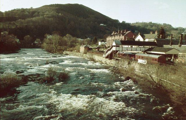 The River Dee at Llangollen, North Wales, 1982
