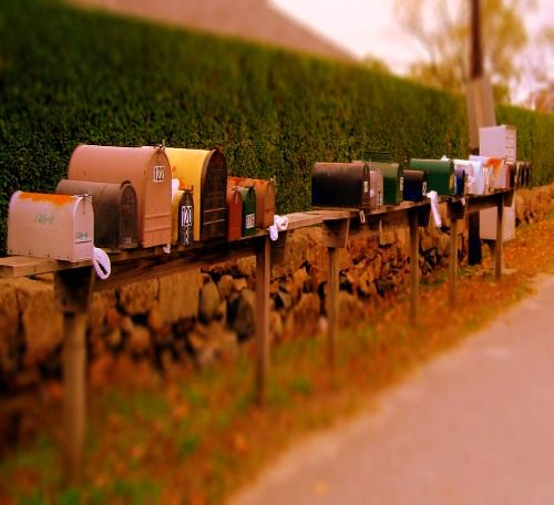 Letters with tilt shift