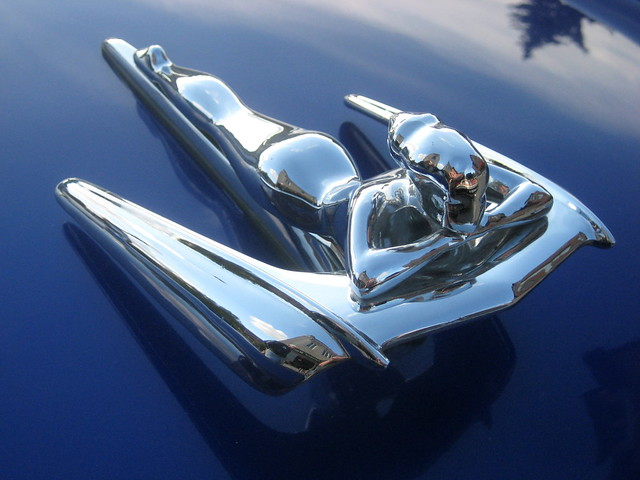 Chrome Flying Lady Hood Ornament - IOWA80.COM