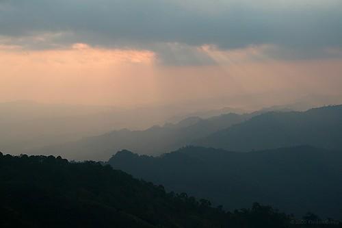 cloud mountain silhouette sunrise asia southeastasia burma hill myanmar southeast birma chin mindat chinstate