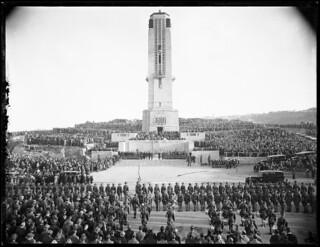 The dedication of the National War Memorial Carillon, Wellington, 25 April 1932