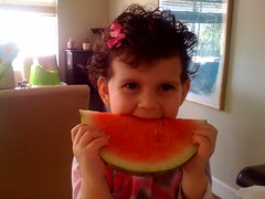 watermelon, fruit, food, mouth, eating,