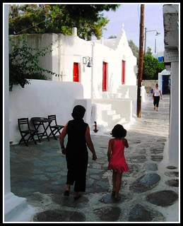 Walking Home in Mykonos, Greece