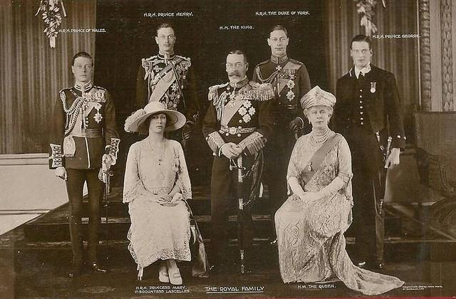 K 246 Nig George V Von England Mit Seiner Familie King