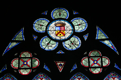 Heraldry Stained-Glass Window, Notre-Dame, Paris