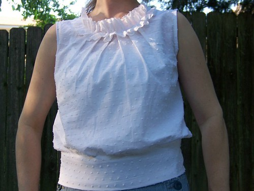 Shannon's pleated ruffle top