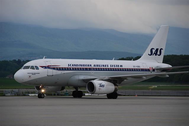 Scandinavian Airlines Airbus A319; OY-KBO@GVA;13.05.2010/572ah
