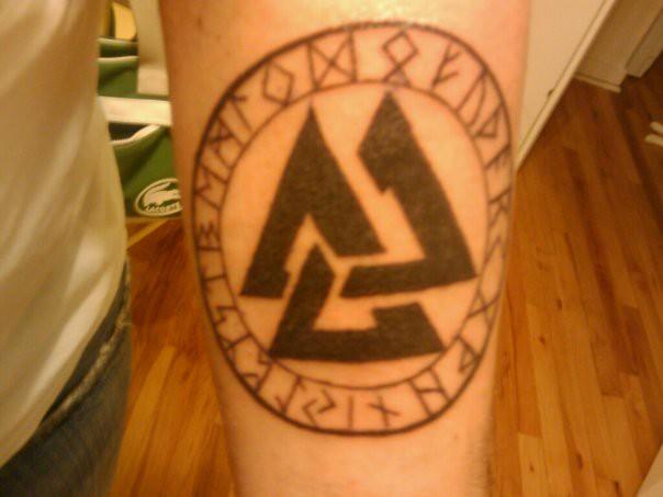 Valknut tattoo flickr photo sharing for Valknut symbol tattoo