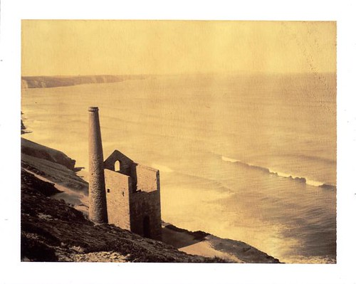 light sea industry film sepia landscape dead polaroid tin mine cornwall wave 180 analogue cdr choco whitehorse chapelporth whealcoates caballosblancos