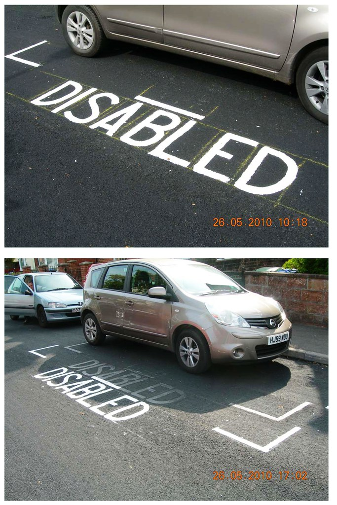disabled bay markings screwup mistake blunder southampton