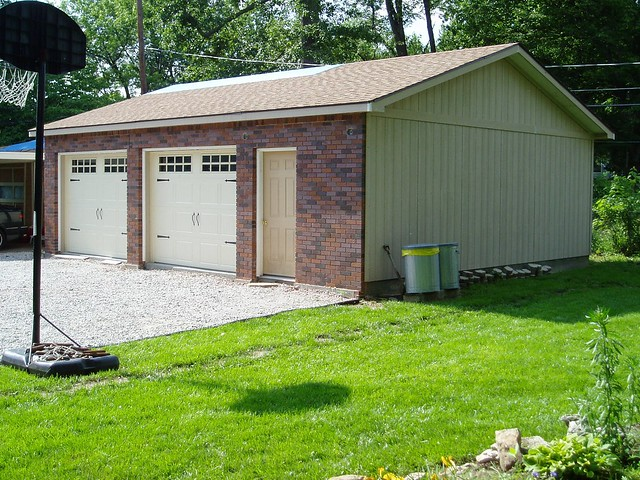 24x30 brick front garage flickr photo sharing for Garage 24x30