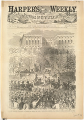The Inaugural procession at Washington passing the gate of the Capital Grounds