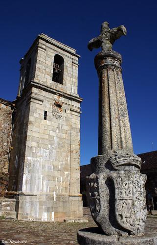 Campanario del Santuario de Nuestra Señora de la Peña de Francia y Cruz de El Rollo - Peña de Francia - Salamanca
