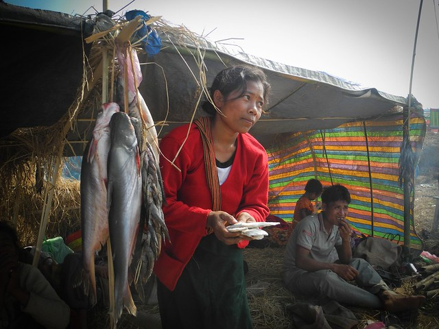 "People from the hills generally exchange their Jhum produce with fish and pithas with people from the plains, generally the stuff they cannot grow. ""It is uncertain for how long this union of the people from the hills and plains would be able to thrive in the age of mechanization and urbanization. The exchange is turning into a business slowly. The commercial shops are increasing in number. The goods that are exchanged are reducing. The number of things that grew naturally in the forests has reduced. Earlier the people used to bring numerous kinds of things especially medicinal herbs to the festival. Now the variety has gone down"", commented Jurshing Bordoloi, Secretary Jonbeel Mela Organising Committee."